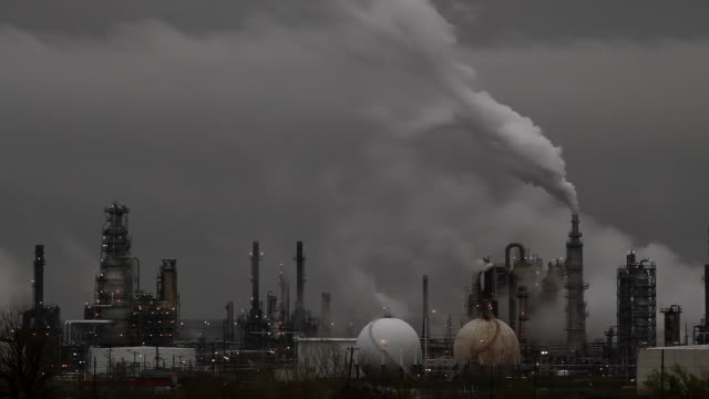 Oil Refinery Vertical Smoke