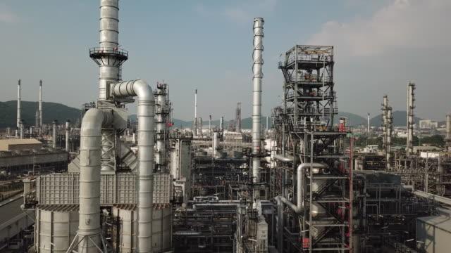 vídeos y material grabado en eventos de stock de refinería de petróleo - crudo