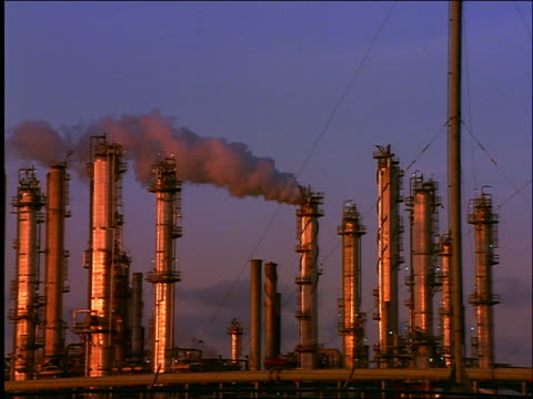 pan oil refinery with smoke / galveston, texas - 1996 stock videos & royalty-free footage
