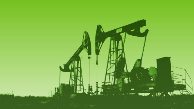 vídeos de stock, filmes e b-roll de plataforma petrolífera (verde) hd1080, ntsc, pal - exaustão