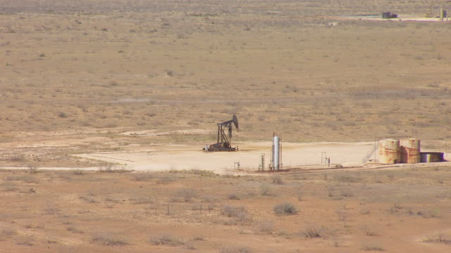 MS AERIAL ZI Oil rig in Permian Oil Field in Hill Country / Texas, United States