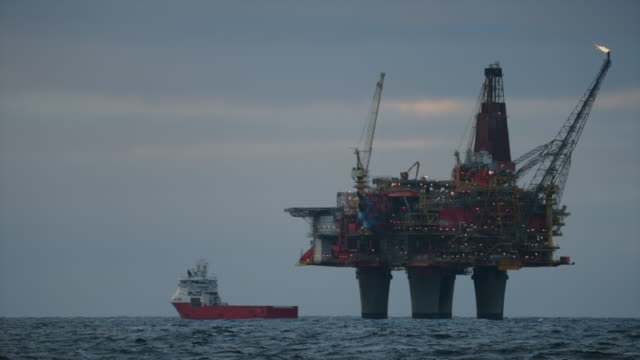 oil rig offshore platform in the north sea - north stock videos & royalty-free footage