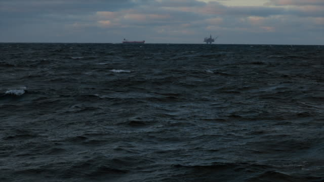 oil rig offshore platform in the north sea - north sea stock videos & royalty-free footage
