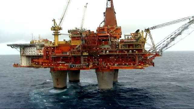 rescue operation called off r07110608 norway north sea statfjord b oil platform north sea with oiil rig workers on board rig and platform - oil rig supply ship stock videos and b-roll footage