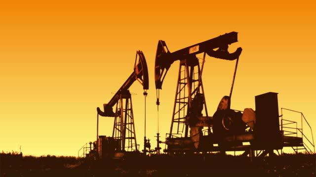 Oil rig (sunrise)
