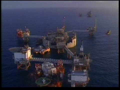 oil rigs at sea operated by phillips petroleum. - norway stock videos & royalty-free footage