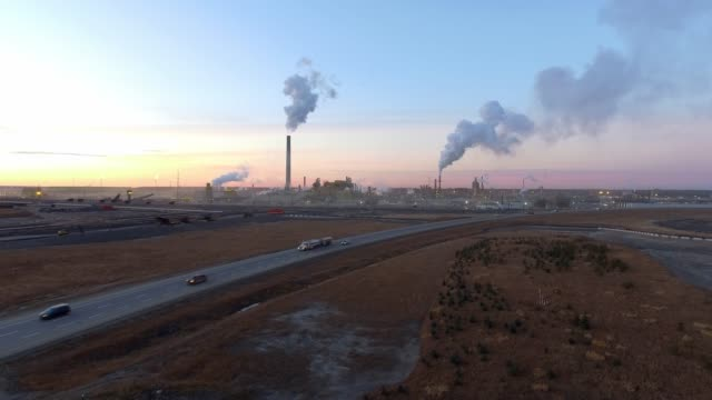 oil sands plant - alberta stock videos & royalty-free footage