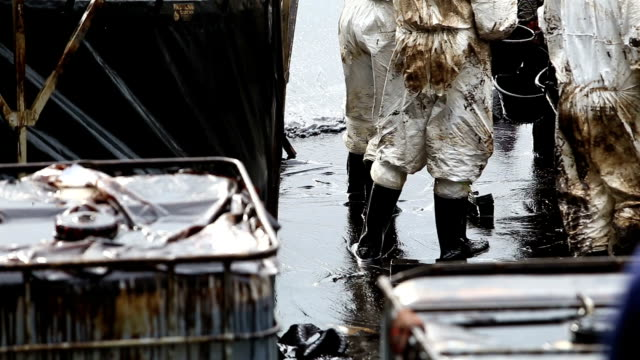 oil spill on gulf - natural disaster stock videos & royalty-free footage