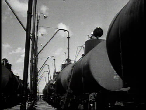 1941 montage oil tanker cars / russia - 1941 stock videos & royalty-free footage