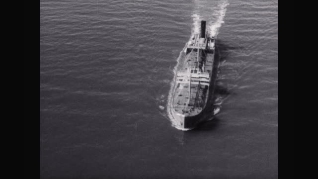 ws aerial pov oil tanker moving in sea / at sea - oil tanker stock videos and b-roll footage