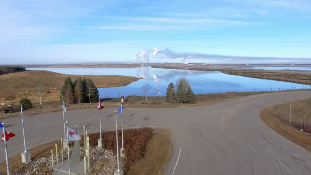 oilsands mines in fort mcmurray - alberta stock videos & royalty-free footage