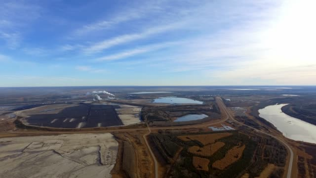oilsands mines in fort mcmurray - pipeline stock videos and b-roll footage
