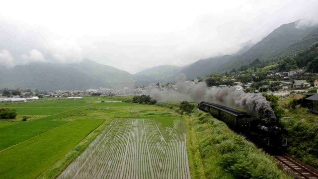 hita oita prefecturea steam locomotive that last chugged across the landscape here nearly half a century ago has been brought back to life with... - oita prefecture stock videos & royalty-free footage