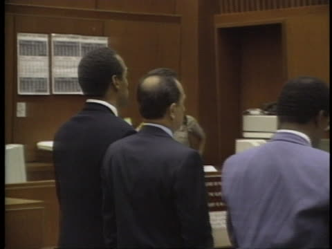 """oj simpson pleads """"absolutely, 100 percent not guilty"""" - o.j. simpson stock videos & royalty-free footage"""