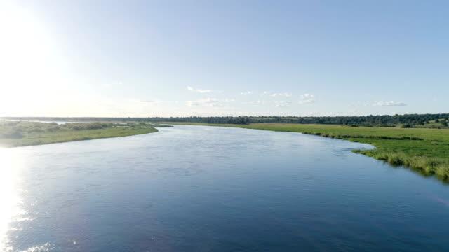 オカバンゴ川。ドローンのビュー ポイント。 - ボツワナ点の映像素材/bロール