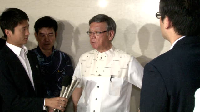 Okinawa Gov Takeshi Onaga said he expressed his opposition to the plan to relocate a major US base within the southern Japanese island prefecture in...