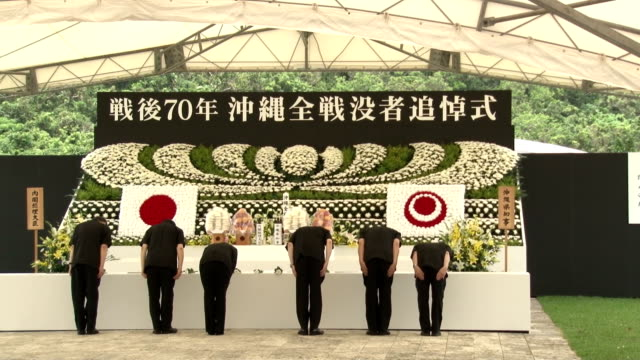 vídeos y material grabado en eventos de stock de okinawa marked the 70th anniversary tuesday of the end of a world war ii ground battle that claimed over 200000 lives with the local government... - caroline kennedy