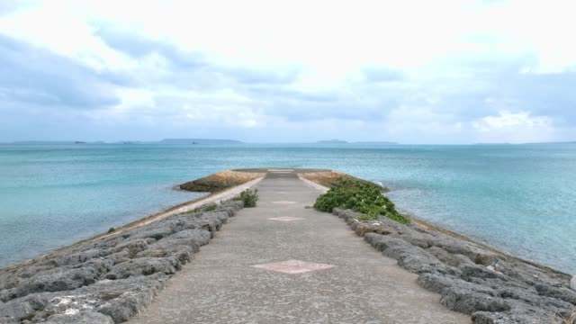 okinawa sea and sky.  fast forward video. - jetty stock videos & royalty-free footage