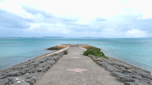 okinawa sea and sky. - jetty stock videos & royalty-free footage
