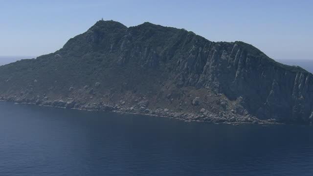 aerial, okinoshima island, fukuoka, japan - fukuoka prefecture stock videos & royalty-free footage
