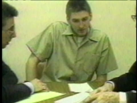 oklahoma city bomber timothy mcveigh sits with attorneys stephen jones and robert nigh. - timothy mcveigh stock videos & royalty-free footage