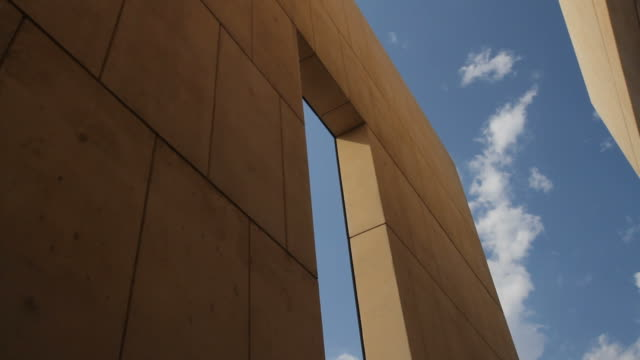 oklahoma city bombing memorial gates and sky - alfred p. murrah federal building stock videos & royalty-free footage