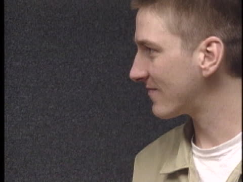 oklahoma city bombing suspect timothy mcveigh smiles in a moment of relaxation. - timothy mcveigh stock videos & royalty-free footage