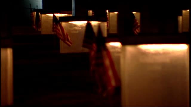 cu oklahoma city memorials and flags - oklahoma city bombing stock videos & royalty-free footage