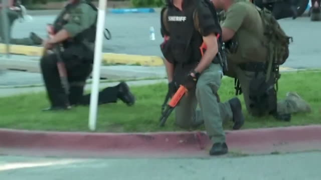 oklahoma city, ok, u.s. - military police with gun at george floyd protest on monday, june 1 the monday after george floyd's death in minneapolis. - weaponry stock videos & royalty-free footage
