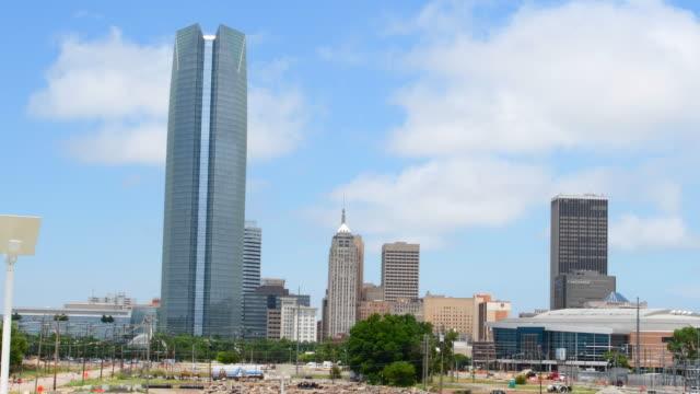 Oklahoma City Oklahoma OK, OKC, city skyline from Expressway of downtowm