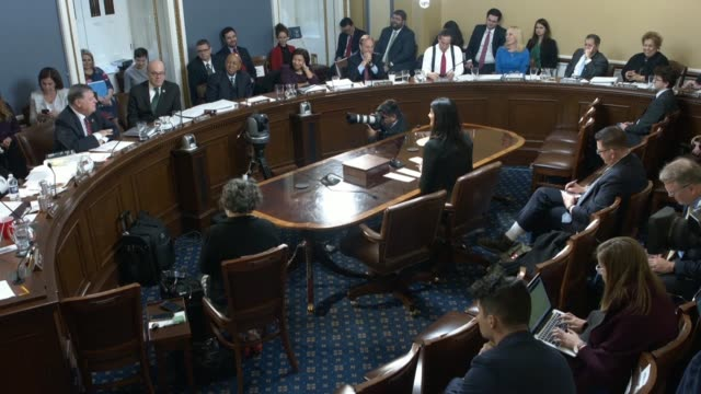 oklahoma congressman tom cole says near the end of the house rules committee hearing on an impeachment resolution against president donald trump that... - tom chance stock videos & royalty-free footage
