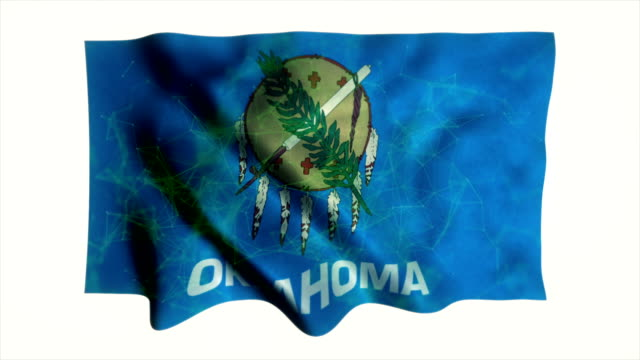 oklahoma flag waving animation - country geographic area stock videos & royalty-free footage