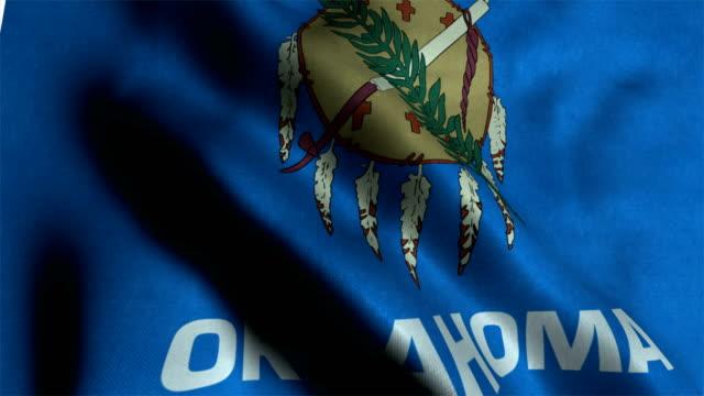 Oklahoma flag waving animation