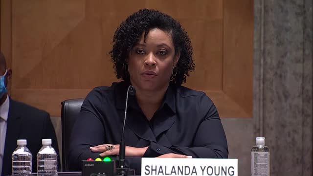 oklahoma senator james lankford asks office of management and budget deputy director nominee shalanda young at her senate governmental affairs... - nomination stock videos & royalty-free footage