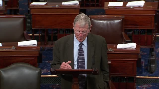 oklahoma senator jim inhofe says in remarks on a migrant caravan then arriving at the tijuana checkpoint that in his real life he spent 20 years as a... - {{ contactusnotification.cta }} stock videos & royalty-free footage
