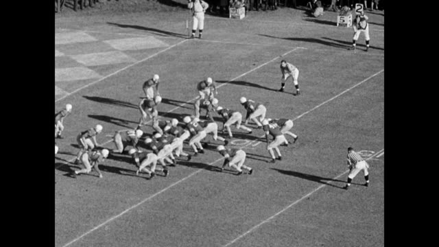 oklahoma sooners, coached by bud wilkinson and the north carolina tar heels coached by carl snavely, play in sugar bowl finals / players coming out... - 1949 stock videos & royalty-free footage