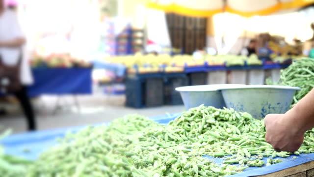 Okra on open market