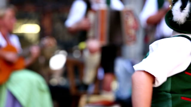 oktoberfest with bavarian boy - traditional clothing stock videos & royalty-free footage