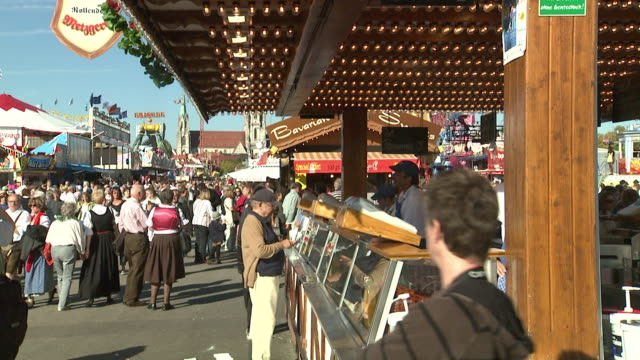 oktoberfest-area, food shop - sausage stock videos & royalty-free footage