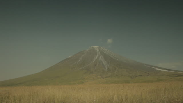 ol doinyo lengai rises from savannah in tanzania. - volcano stock videos & royalty-free footage