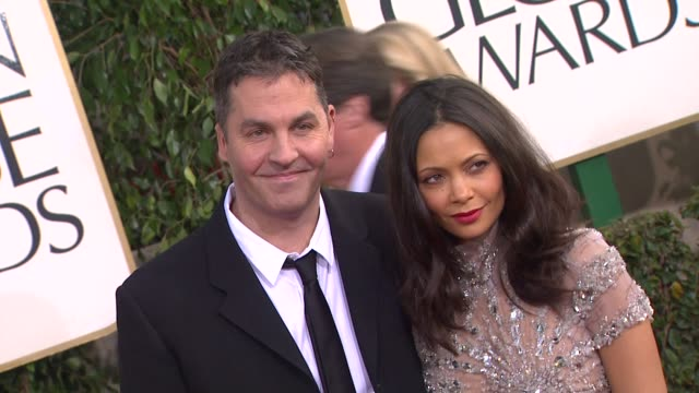 Ol Parker Thandie Newton at 70th Annual Golden Globe Awards Arrivals 1/13/2013 in Beverly Hills CA