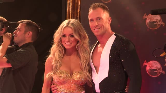 ola jordan at strictly come dancing at elstree studios on september 03 2013 in borehamwood england - ハートフォードシャー点の映像素材/bロール