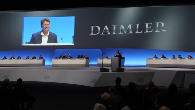 ola källenius , who will succeed dieter zetsche as chairman of daimler ag, attends the annual daimler ag shareholders meeting on may 22, 2019 in... - annual general meeting stock videos & royalty-free footage