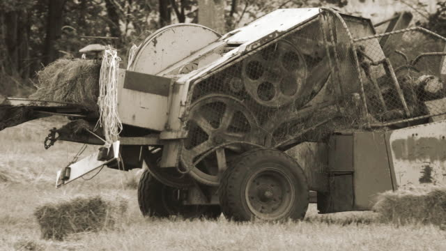 old agriculture machine - agricultural machinery stock videos & royalty-free footage
