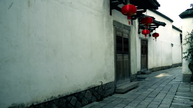 old alleyway in morning - hutong alley stock videos & royalty-free footage