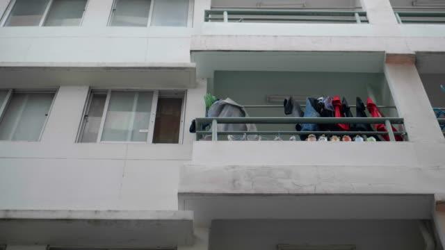 old apartment , bangkok thailand - council flat stock videos & royalty-free footage