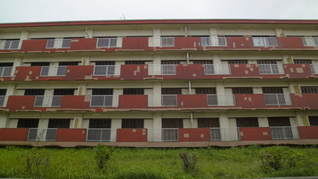 old apartment buildings in japan. - obsoleto video stock e b–roll