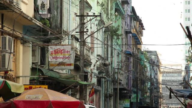 MS Old apartment buildings / Rangoon, Yangon, Myanmar