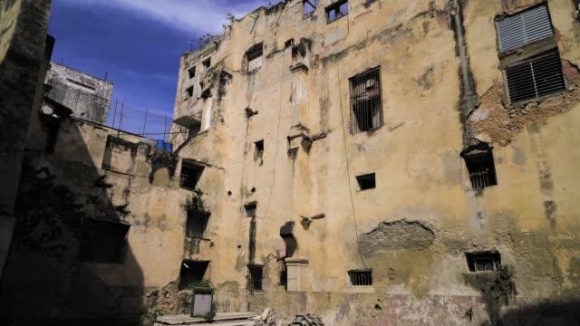 old backyard in havana, cuba - facade stock videos & royalty-free footage