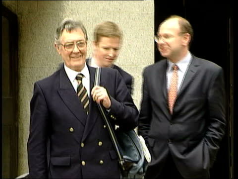 old bailey: ext tony morton-hooper speaking to press sot - archer and family shocked and disappointed at verdict / we shall be appealing ted francis... - short phrase stock videos & royalty-free footage